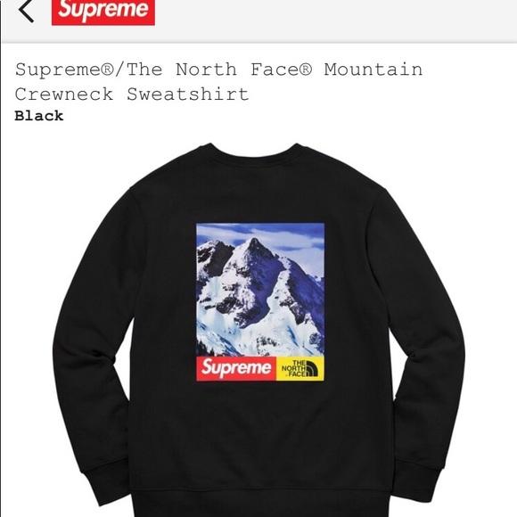 b3efffa3c286 Supreme Sweaters | Tnf Mountain Crewneck Size Xl | Poshmark